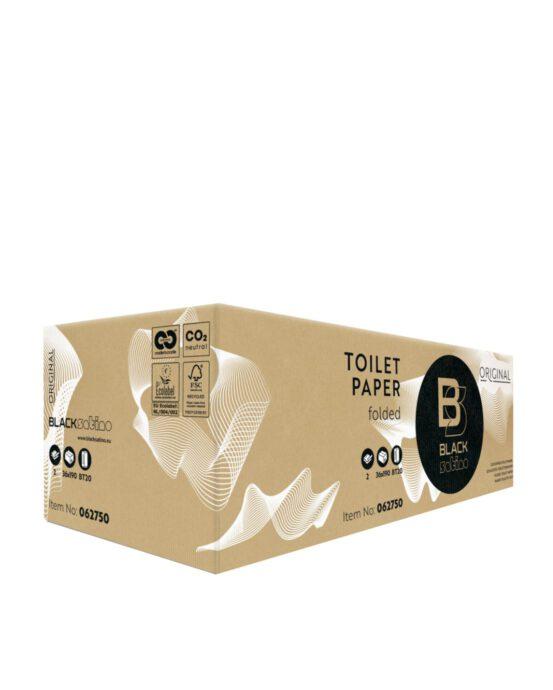 BlackSatino-käsipyyhepaperi Z. Tuotelaatikon väri ja materiaali: ruskea, pahvi. Tuotenumero: 062750.