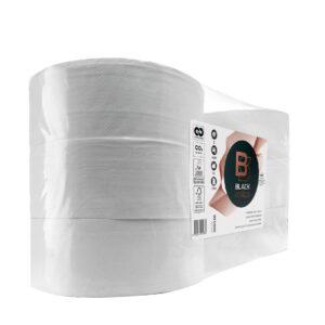 BlackSatino-WC-paperijumborulla. Väri: valkoinen. Tuotenumero: 306530.