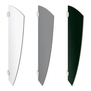 Pisuaarin ujo-väliseinä. Muoto: purje. Värivaihtoehdot ja tuotenumerot: mattavalkoinen 5774455, mattaharmaa 5774452, mattamusta 5774454.