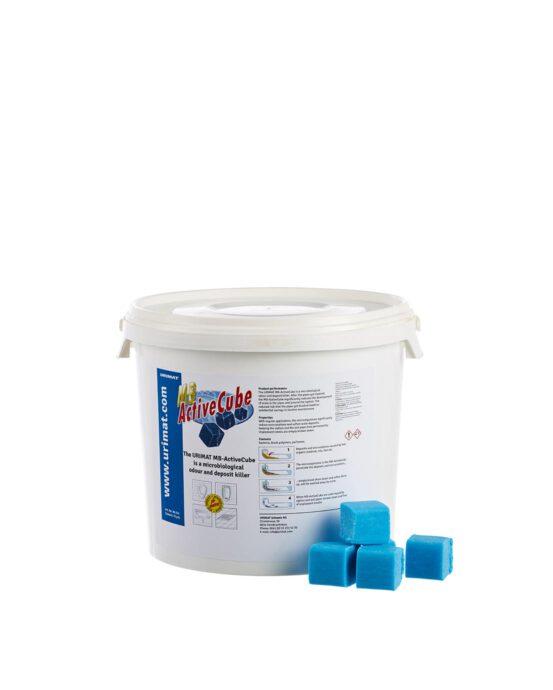 Mikrobiologinen ActiveCube -saniteettikivisanko. Saniteettikivien väri: sininen. Tuotenumero: 80214.