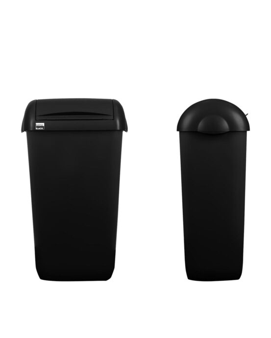 BlackSatino hygienia-astia 23 litraa. Väri: mattamusta.