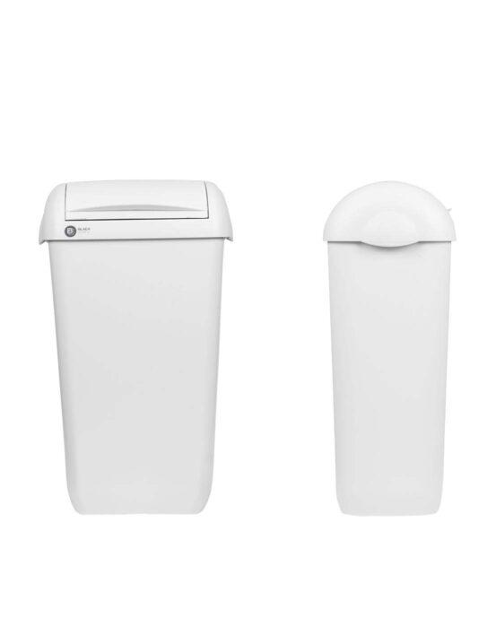 BlackSatino hygienia-astia 23 litraa. Väri: valkoinen.