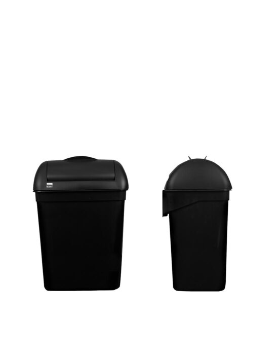 BlackSatino hygienia-astia 8 litraa. Väri: mattamusta.