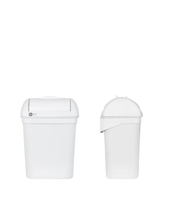 BlackSatino hygienia-astia 8 litraa. Väri: valkoinen matta.