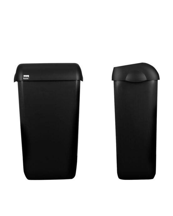 BlackSatino roska-astia 23 litraa. Väri: mattamusta.