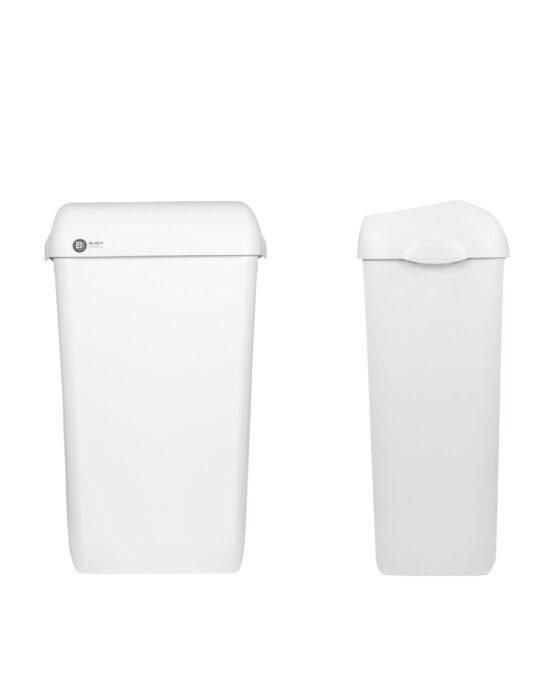 BlackSatino roska-astia 23 litraa. Väri: valkoinen matta.