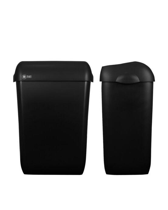 BlackSatino roska-astia 43 litraa. Väri: mattamusta.