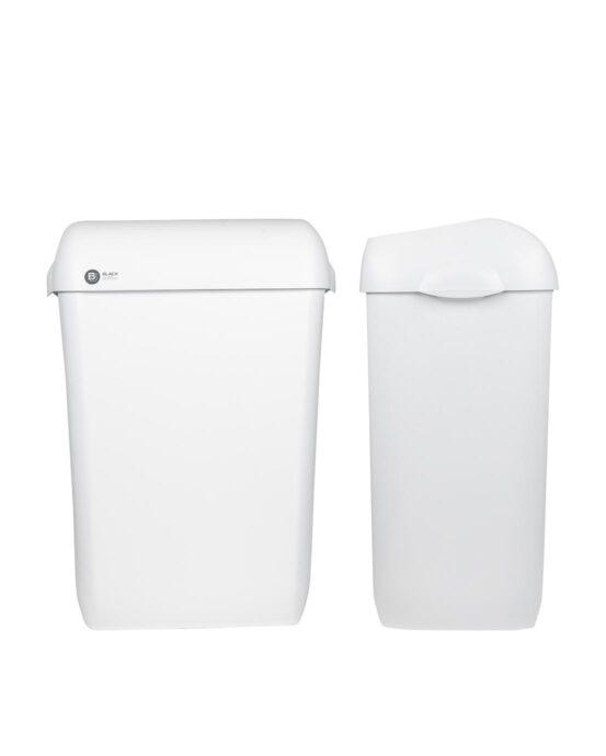 BlackSatino roska-astia 43 litraa. Väri: valkoinen matta.