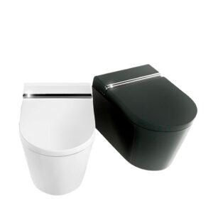 Hygea äly-WC-istuin. Kaksi värivaihtoehtoa: valkoinen ja musta.