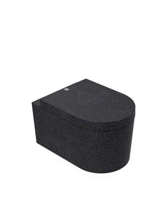Woodio Block -WC-istuin. Väri: Char, hiilenmusta. Tuotenumero: WC-BL-A2-CHA-G.