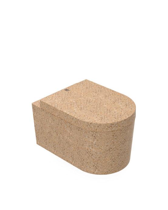 Woodio Block -WC-istuin. Väri: Natural. Tuotenumero: WC-BL-A2-NAT-G.