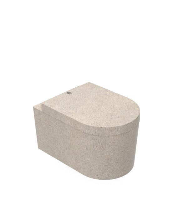 Woodio Block -WC-istuin. Väri: Polar, lämmin valkoinen. Tuotenumero: WC-BL-A2-POL-G.