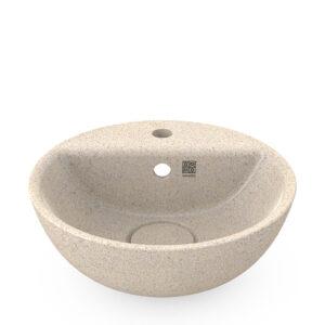 Woodio Soft40 -malja-allas hanapaikalla. Pesualtaan väri: Polar – lämmin valkoinen. Tuotenumero: WB-S40F-A2-POL-G.