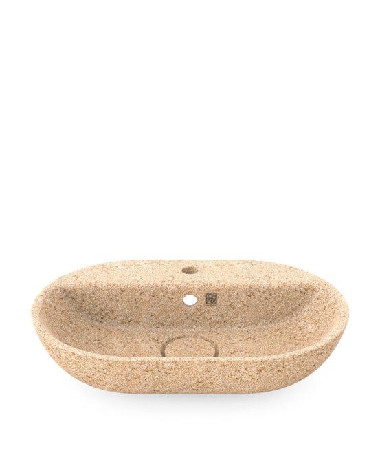 Woodio Soft60 -malja-allas hanapaikalla. Väri: Natural. Tuotenumero: WB-S60F-A2-NAT-G.