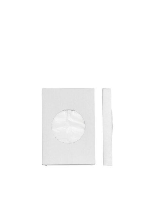 BlackSatino hygieniapussin täydennyspakkaus kuvattuna edestä. Väri: valkoinen.